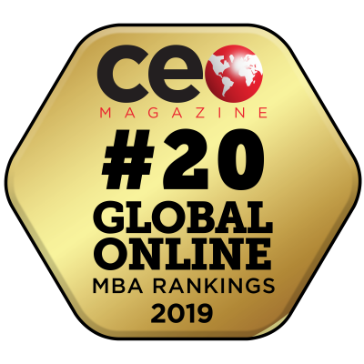 CE Global Online MBA Rankings #12 in 2016.