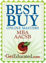 Best Buy Online Masters MBA AACSB award.