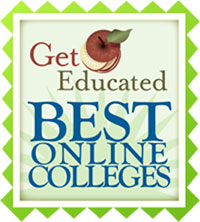 Get Educated Best Online Colleges award.